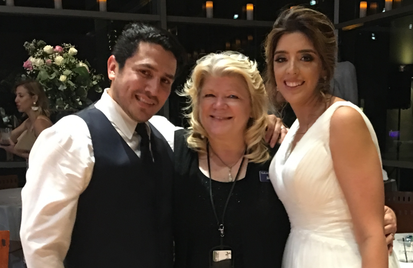 Officiant Susan Obregon with Lesley and Edgar